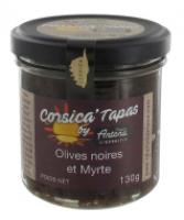 Sort oliventapenade m/ myrtebær - 130g